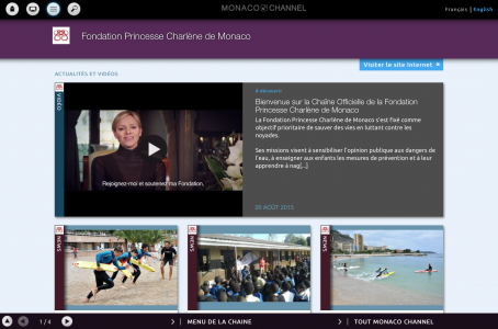 Launch of the official Princess Charlene of Monaco Foundation channel