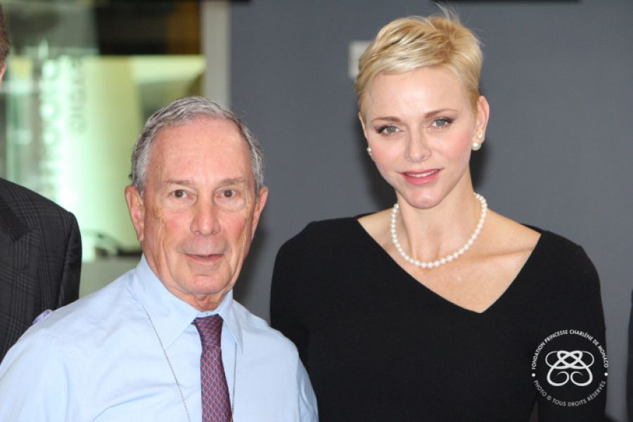 H.S.H. Princess Charlene met Mr. Michael Bloomberg - New York - 25.10.2016