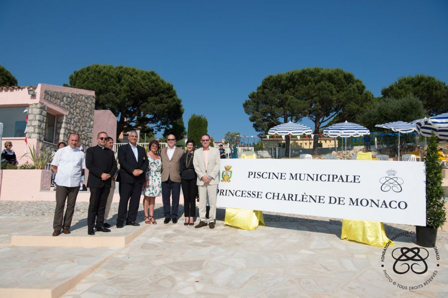 Opening Ceremony of the Princess Charlene of Monaco Municipal Swimming Pool - La Turbie - 12.06.2017