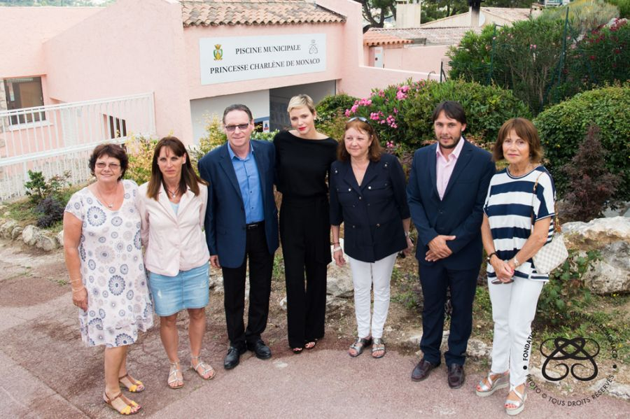 ​Princess Charlene of Monaco Municipal Pool – La Turbie - 22 June 2017