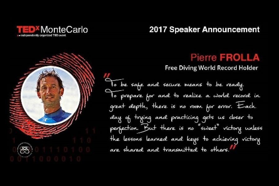 Pierre Frolla will be part of TEDxMonteCarlo on 11.11.2017