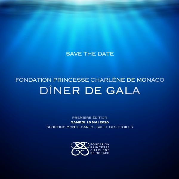 Gala de la Fondation Princesse Charlène de Monaco - Save the date