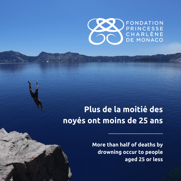 The Princess Charlene of Monaco Foundation calls attention to water safety measures