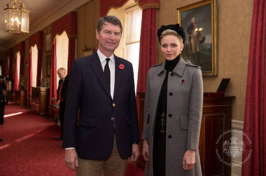 H.S.H. Princess Charlene met with Sir Tim Laurence in London