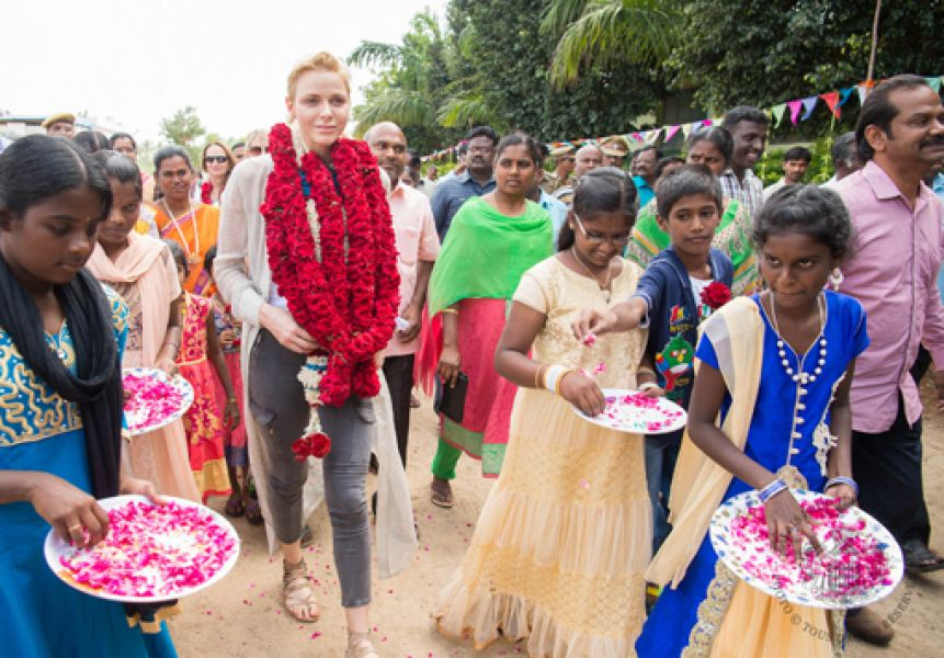 H.S.H. Princess Charlene's trip to India